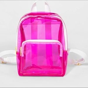 Cat & Jack Pink clear mini backpack
